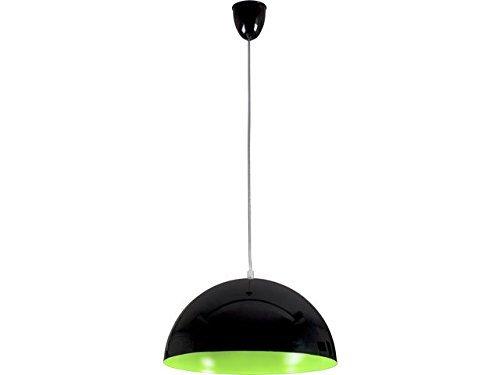 Pendelleuchte rund / Schwarz/Grün / E27 bis zu 100 Watt 230 V / Hängelampe 33cm / Pendellampe Esstisch Küche / Wohnzimmer Lampe modern / Beleuchtung innen