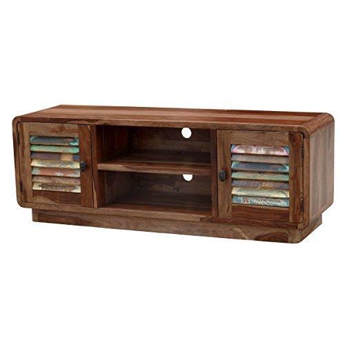tv board lowboard sheesham massivholz braun bunt breite 140 cm tiefe 40 cm h he 50 cm. Black Bedroom Furniture Sets. Home Design Ideas