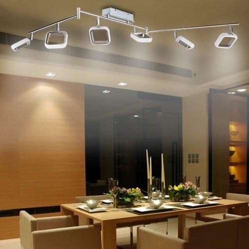 Lu-Mi® LED Deckenleuchte Deckenlampe Leuchte Designleuchte Wohnzimmer Küche Strahler (Linea LED Kvader OO6)