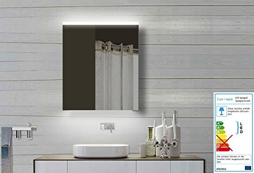 Lux-aqua Design Badzimmer Spiegelschrank mit Alu-Rahmen Badspiegel Lichtspiegel YDC60-70