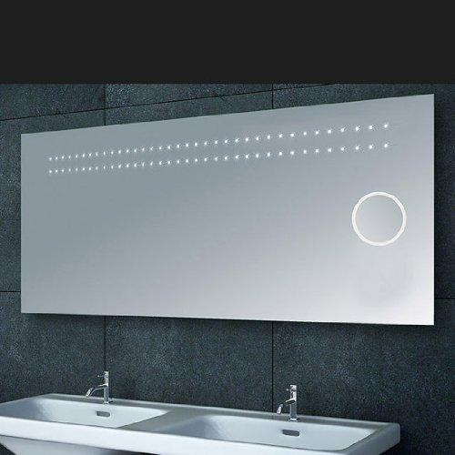 wandspiegel mit beleuchtung und uhr inspiration design