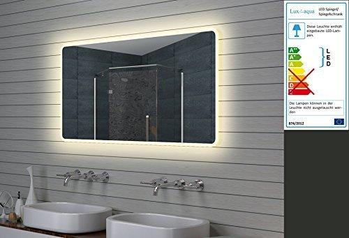 Lux aqua design led badezimmerspiegel lichtspiegel - Lux aqua spiegel ...