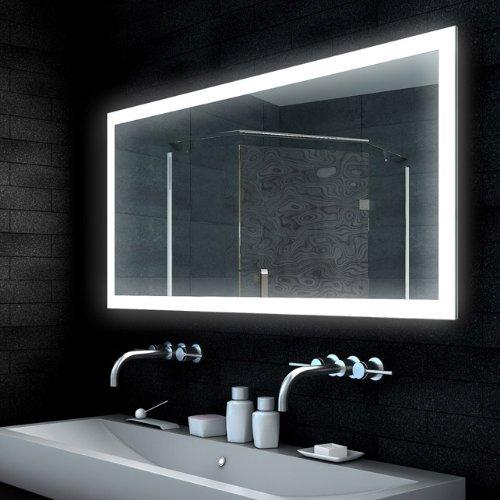 Lux aqua design spiegel lichtspiegel badezimmerspiegel led for Lampe badezimmerspiegel