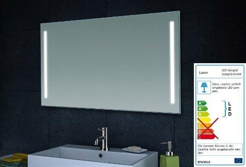 lux aqua design wand spiegel badezimmerspiegel led beleuchtung mit 420 lumen mt60 100 m bel24. Black Bedroom Furniture Sets. Home Design Ideas