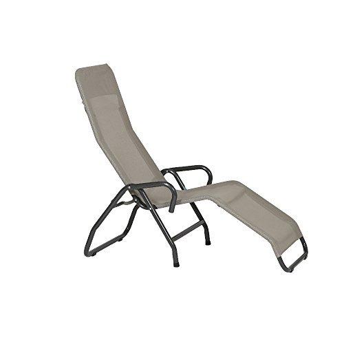 mfg 2603309 b derliege pool 3 139 x 72 x 118 cm stahlrohrgestell grau gewebe taupe m bel24. Black Bedroom Furniture Sets. Home Design Ideas