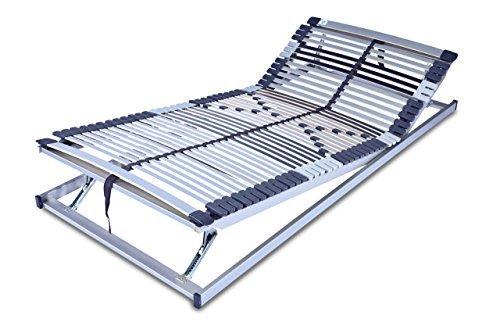 MSS 700120-200.90.7 7 Zonen-Lattenrost Trioflex KF, Kopf- und Fußteil verstellbar, 44 Leisten, Mittelgurt, 9-fach einstellbare Härte, 90 x 200 cm