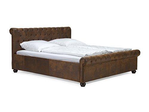 massivum bett chesterfield 180x200cm kunstleder braun m bel24. Black Bedroom Furniture Sets. Home Design Ideas