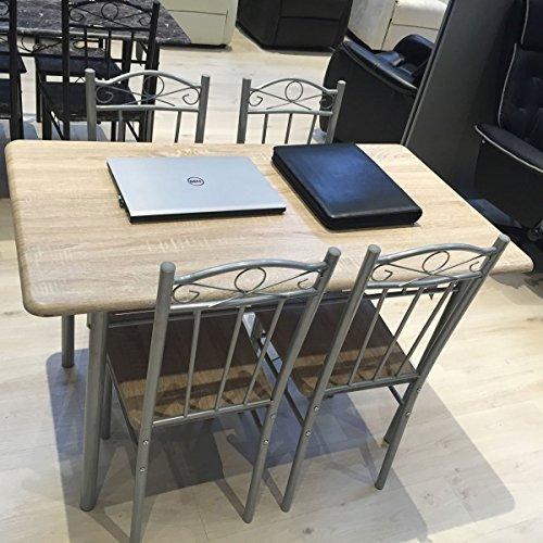 m bel akut essgruppe 1 tisch mit 4 st hlen metallgestell. Black Bedroom Furniture Sets. Home Design Ideas