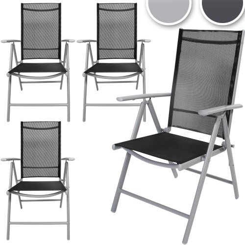 miadomodo set 4 st hle aluminium hellgrau m bel24. Black Bedroom Furniture Sets. Home Design Ideas