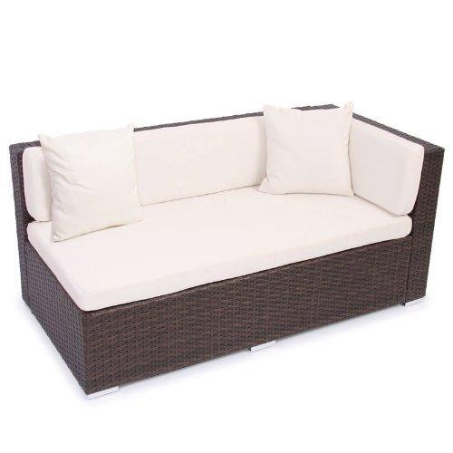 m bel24 m bel g nstig modulares poly rattan alu sofa romv braun meliert 2er ecksofa links. Black Bedroom Furniture Sets. Home Design Ideas