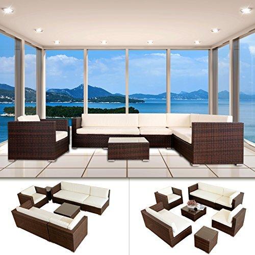 napoli polyrattan braun gartenm bel rattan lounge gartenset sitzgruppe alu m bel24. Black Bedroom Furniture Sets. Home Design Ideas