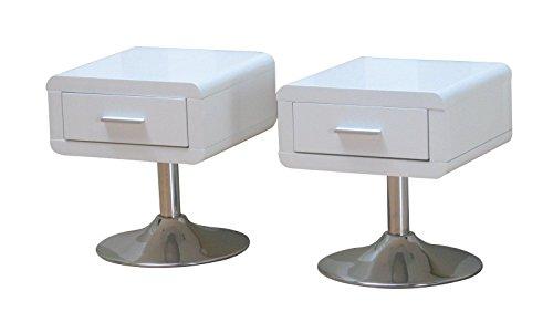 nachttisch comfort weiss hochglanz 2er set m bel24. Black Bedroom Furniture Sets. Home Design Ideas