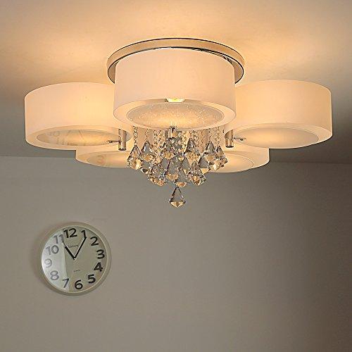 natsen modern deckenlampe 5 flammig kristall. Black Bedroom Furniture Sets. Home Design Ideas