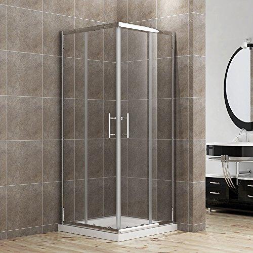 duschkabine duschabtrennung 90x90cm eckeinstieg doppel schiebet r echtglas m bel24. Black Bedroom Furniture Sets. Home Design Ideas