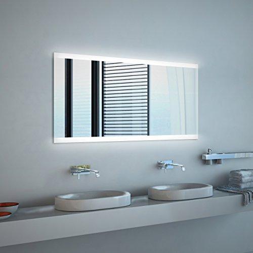Spiegel ID dein.Spiegel.online Noemi 2018 Design: LED BADSPIEGEL mit Beleuchtung - Made in Germany - Individuell Nach Maß - Auswahl: (Breite) 100 cm x (Höhe) 70 cm