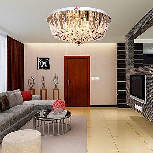 OOFAY LIGHT Runde Kristall Celling Lampe für Wohnzimmer-Lampe, Schlafzimmer Esszimmer, Arbeitszimmer