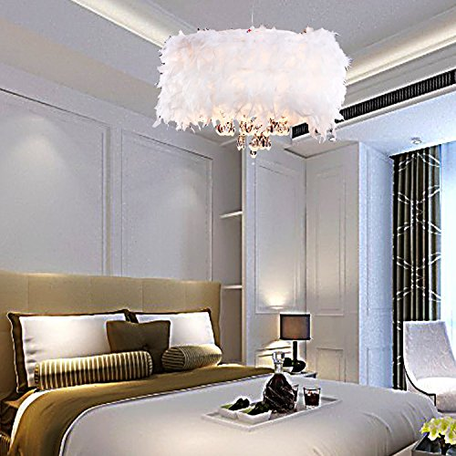 zeitgen ssische ppigen white feather kronleuchter mit 3 lampen crystal drop ausgew hlte. Black Bedroom Furniture Sets. Home Design Ideas
