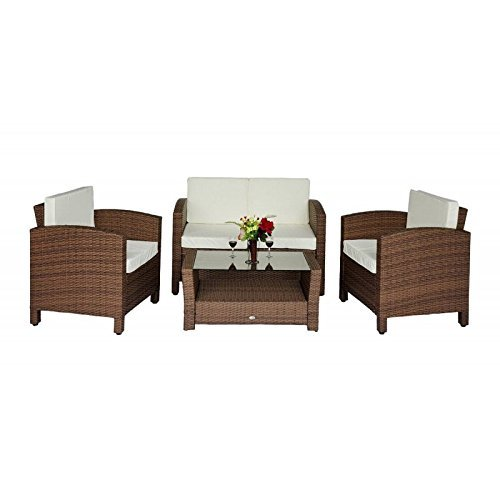 outsunny poly rattan gartenm bel gartenset lounge. Black Bedroom Furniture Sets. Home Design Ideas