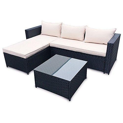 poly rattan sitzgruppe essgruppe set cube sofa garnitur gartenm bel lounge farbwahl 3er. Black Bedroom Furniture Sets. Home Design Ideas