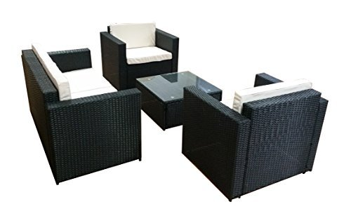 poly rattan lounge gm9 schwarz sofa garnitur polyrattan sitzgruppe gartenm bel m bel24. Black Bedroom Furniture Sets. Home Design Ideas