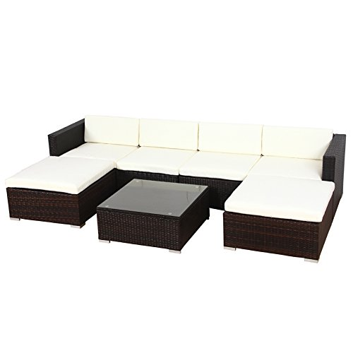 svita lugano poly rattan lounge garten set xxl sofa set garnitur gartenm bel couch set xxl. Black Bedroom Furniture Sets. Home Design Ideas