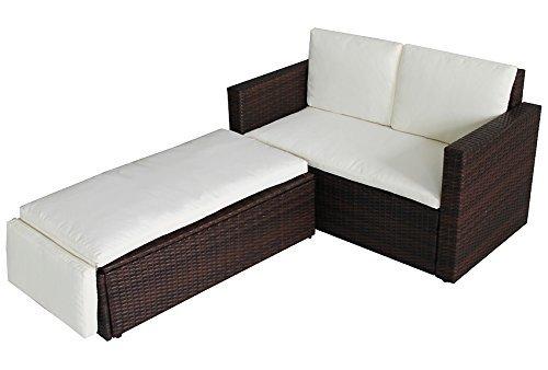 poly rattan lounge gartenset braun sofa garnitur polyrattan gartenmbel neu 0 3 m bel24 m bel. Black Bedroom Furniture Sets. Home Design Ideas