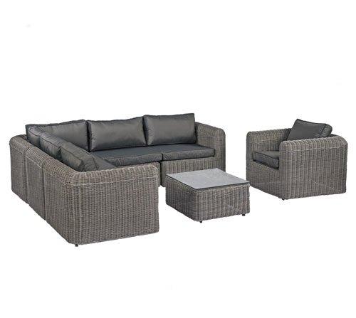Poly rattan lounge grau neuesten design kollektionen f r die familien Rattan sofa grau