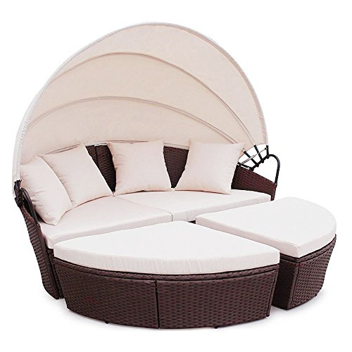 poly rattan sunbed lounge gartenset sofa garnitur polyrattan gartenm bel braun m bel24. Black Bedroom Furniture Sets. Home Design Ideas