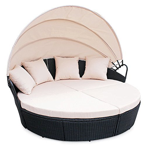 poly rattan sunbed lounge gartenset sofa garnitur polyrattan gartenm bel schwarz m bel24. Black Bedroom Furniture Sets. Home Design Ideas