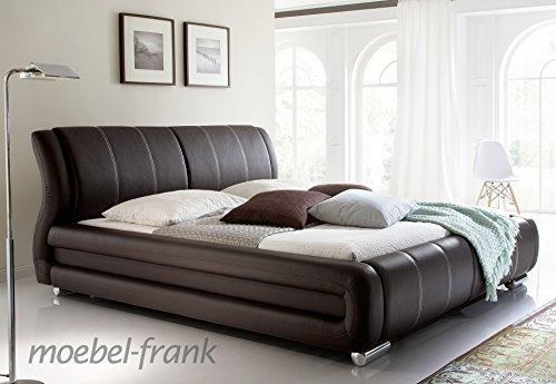 polsterbett kunst lederbett braun beige doppelbett. Black Bedroom Furniture Sets. Home Design Ideas