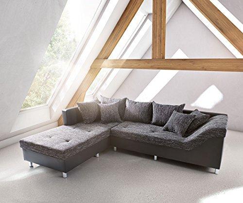 m bel24 m bel g nstig polsterecke alexon schwarz 260x208. Black Bedroom Furniture Sets. Home Design Ideas