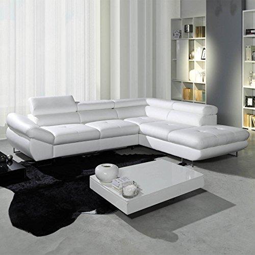 polsterecke sofa fabio wohnlandschaft mit schlaffunktion schlafsofa schlafcouch kunstleder. Black Bedroom Furniture Sets. Home Design Ideas