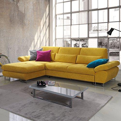 ecksofa mit schlaffunktion und bettkasten reggio ottomane. Black Bedroom Furniture Sets. Home Design Ideas