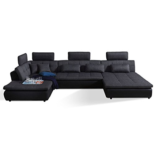 polsterecke wohnlandschaft sofa free mit bettfunktion bettkasten ecksofa m bel24. Black Bedroom Furniture Sets. Home Design Ideas