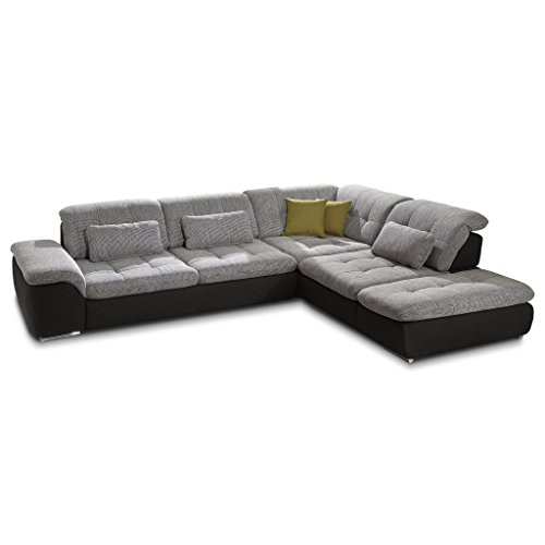 polsterecke wohnlandschaft sofa isola mit schlaffunktion und schubkasten ecksofa kunstleder. Black Bedroom Furniture Sets. Home Design Ideas