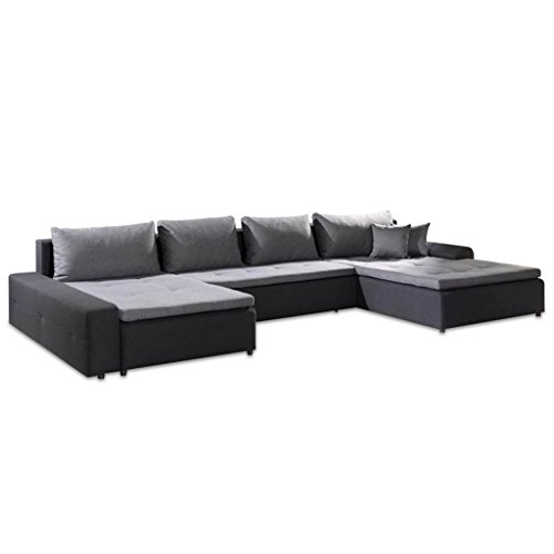 polsterecke wohnlandschaft sofa london xxl mit schlaffunktion kunstleder bettfunktion m bel24. Black Bedroom Furniture Sets. Home Design Ideas