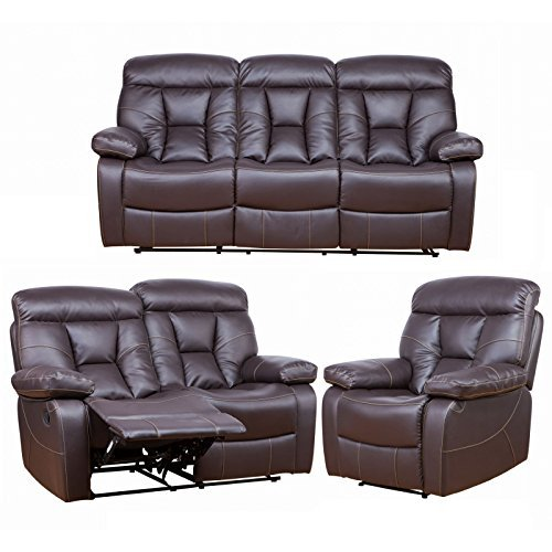 polstergarnitur couchgarnitur mit liegefunktion von maco 3er 2er 1er in braun kostenloser. Black Bedroom Furniture Sets. Home Design Ideas