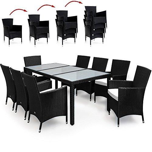 17tlg polyrattan sitzgruppe gartenm bel gartenset lounge. Black Bedroom Furniture Sets. Home Design Ideas