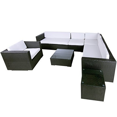 m bel24 m bel g nstig polyrattan lounge havanna schwarz 0. Black Bedroom Furniture Sets. Home Design Ideas
