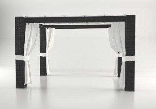 Polyrattan-Pavillon-PALOMA-3x3m-schwarz-0