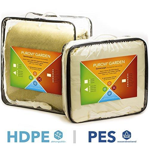Purovi-Sonnensegel-Quadrat-verschiedene-Gren-UV-Schutz-wasserabweisend-PES-oder-atmungsaktiv-HDPE-3m-x-3m-aus-PES-0