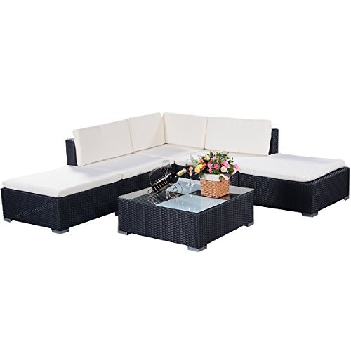 m bel24 m bel g nstig costway poly rattan rattanm bel gartenm bel lounge set gartenlounge. Black Bedroom Furniture Sets. Home Design Ideas
