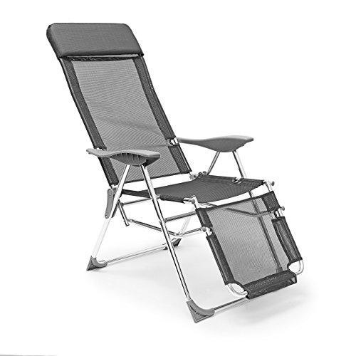 relaxdays liegestuhl klappbar 111 x 60 x 75 cm hxbxt klappstuhl m armlehnen liege 3. Black Bedroom Furniture Sets. Home Design Ideas