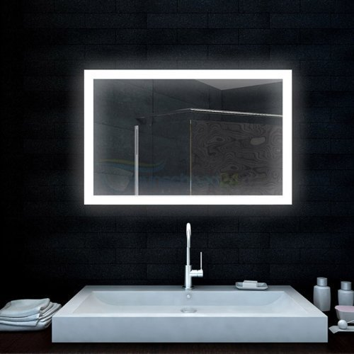badezimmerspiegel lichtspiegel mit led lampe 100x65 cm m bel24. Black Bedroom Furniture Sets. Home Design Ideas