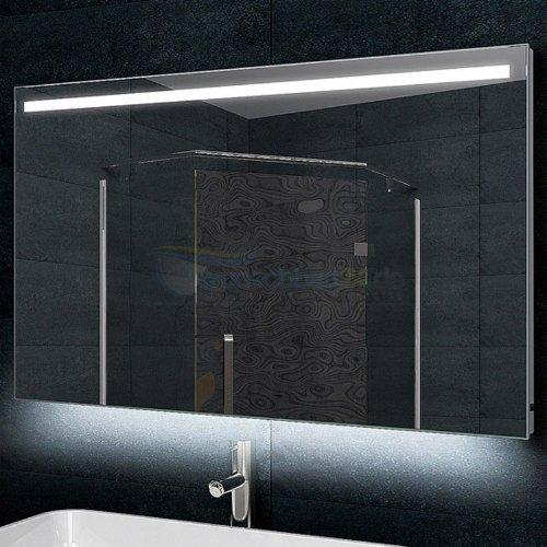 René Bugil Badezimmerspiegel XL mit LED Beleuchtung - 120x60 cm