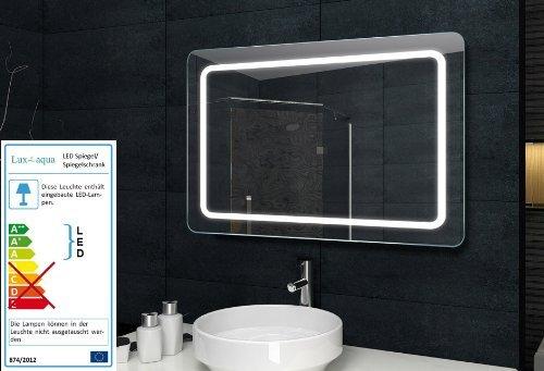 Möbel24 & Möbel Günstig Badezimmerwandspiegel Wandspiegel mit Beleuchtung - 100x60cm - MF69100