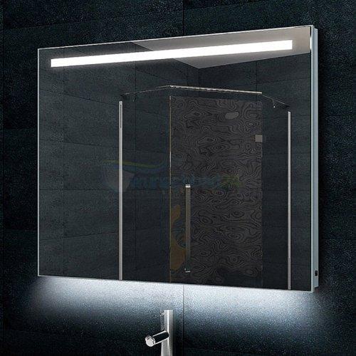 René Bugil Design-Badezimmerspiegel Alu-Rahmen inkl. LED-Beleuchtung - 60x80cm