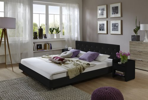 sam design polsterbett adonia 180 x 200 cm in schwarz. Black Bedroom Furniture Sets. Home Design Ideas