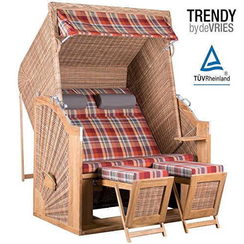 strandkorb trendy pure classic xl sun teak griseum dessin 429 m bel24. Black Bedroom Furniture Sets. Home Design Ideas