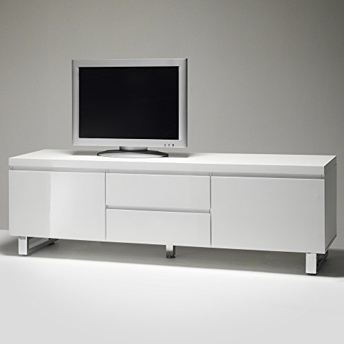 sydney tv lowboard m bel media kommode sideboard tisch hochglanz lack weiss m bel24. Black Bedroom Furniture Sets. Home Design Ideas